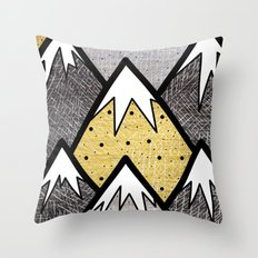 The Gold and Silver Hills Throw Pillow