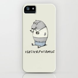 Hipsterpotamus iPhone Case