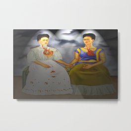 Two Fridas Metal Print