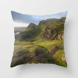 Mesmerized By the Quiraing II Throw Pillow