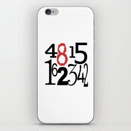 The Numbers in White iPhone Skin