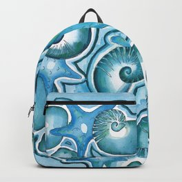 Shell Pattern in blues Backpack