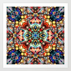 Colorful Shapes Abstract Art Print