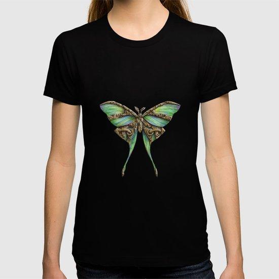 Steampunk Green Luna Moth by ennas