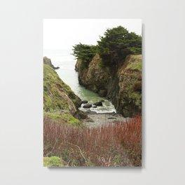 Sea Cove Mendocino : Point Cabrillo Metal Print