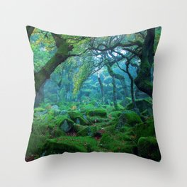 Enchanted forest mood Throw Pillow