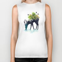 i love you to the moon and back Biker Tanks featuring Watering (A Life Into Itself) by Picomodi