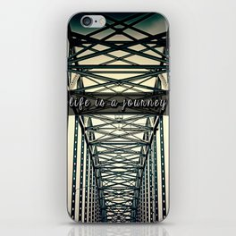 life is a journey . iPhone Skin