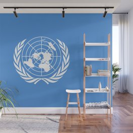 United Nations Flag Wall Mural