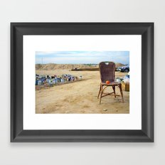 Come and sit  Framed Art Print