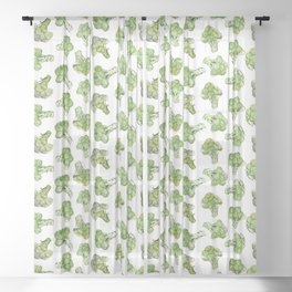 Broccoli - Scattered Sheer Curtain
