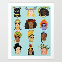 Goddesses Around the World Art Print