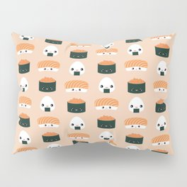 Salmon Dreams in peach, large Pillow Sham