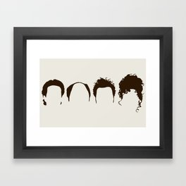 Seinfeld Hair Framed Art Print