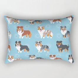 Aussie Shepherds Rectangular Pillow