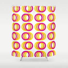 Motion rings Shower Curtain