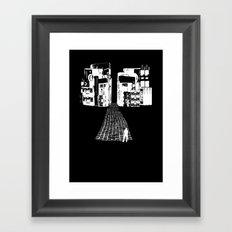 Dead Sound City (White on Black) Framed Art Print