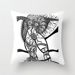 Gaia Awakens Throw Pillow