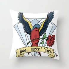 Love Never Dies swallow Throw Pillow