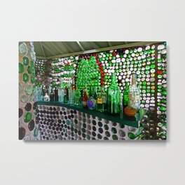 Bottle House Bar Metal Print