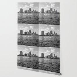 I'm in Miami - Black and white Wallpaper