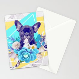 Eclectic Geometrical Bulldog Stationery Cards