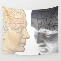 health Wall Tapestries featuring Phrenology | A Picture of Good Health circa 1881 by Mark Strozier