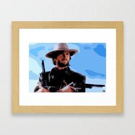 Clint Eastwood Man With No Name Cowboy Illustration Movie Pop Art Home Decor Western Poster Film Framed Art Print