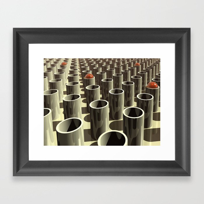 Stockyard of Cylinders Framed Art Print