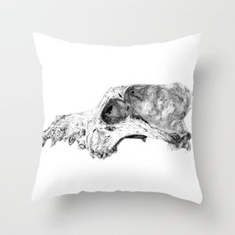 Wolf Skull Throw Pillow