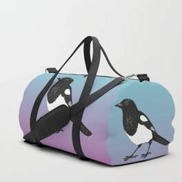 Magpie pen drawing Duffle Bag