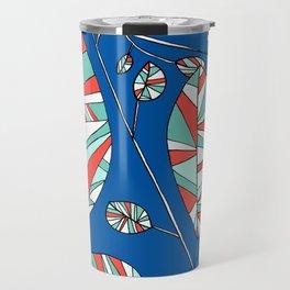 Colorful Tree Branch Drawing by Emma Freeman Designs Travel Mug