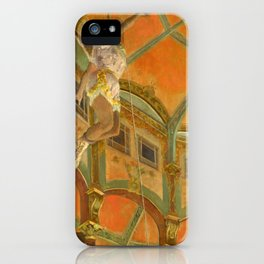 "Edgar Degas ""Miss La La at the Cirque Fernando"" iPhone Case"