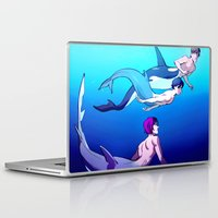 iwatobi Laptop & iPad Skins featuring Swim With Me by Blue