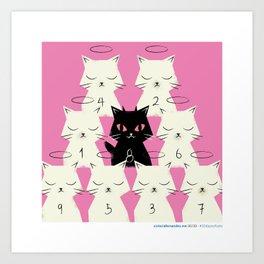 #30daysofcats 30/30 Art Print