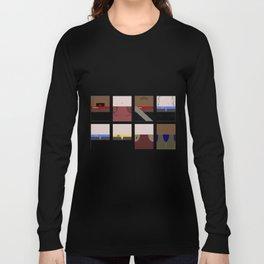 DS9  Characters - Minimalist Star Trek DS9 Deep Space Nine - Defiant - startrek - Trektangles Long Sleeve T-shirt
