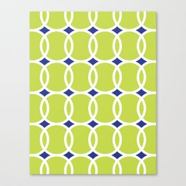 Tennis Ball Geometric Canvas Print