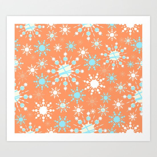 Orange Blizzard Art Print