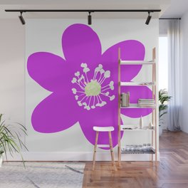 Flower Anemone Hepatica Red Wall Mural