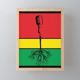 Mic Roots Framed Mini Art Print