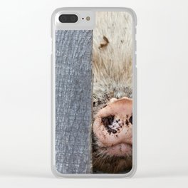Squishy Nose Clear iPhone Case