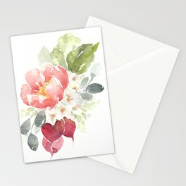 Watercolor Radish Bouquet Stationery Cards