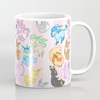 sylveon Mugs featuring Eeveelution Pollution by IdentityPollution
