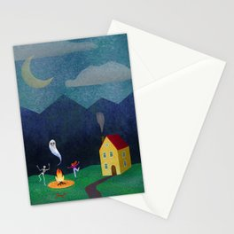 Halloween Dance under the Stars Stationery Cards