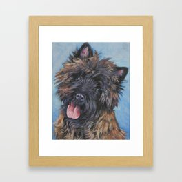 Beautiful Cairn Terrier from an original painting by L.A.Shepard Framed Art Print