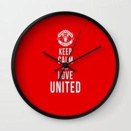 Keep Calm Love United Wall Clock