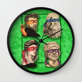 Renaissance Mutant Ninja Artists Wall Clock