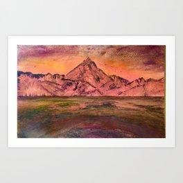 'Morning ride Through Reine' Art Print