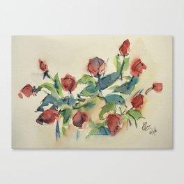 Roses 3 (watercolor) Canvas Print