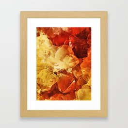 Red & Gold Framed Art Print